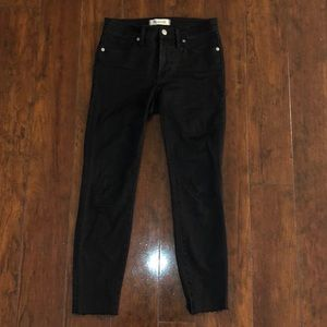 "Madewell 9"" high-rise skinny jeans in black"